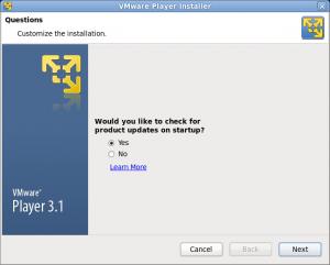 VMware Playre インストール 画像1