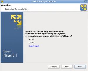 VMware Playre インストール 画像2
