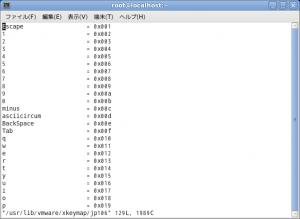 vmware キーマップ 画像2( VMware playerのゲストOSでアンダーバーを表示する方法より)