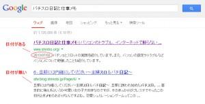 googleの検索結果に表示される日付についての検証