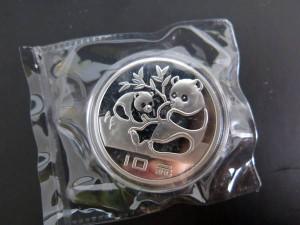 パンダ銀貨の偽物 出品状態
