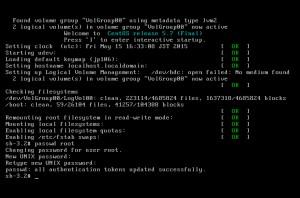 Linuxをシングルユーザーモードで起動する方法。パスワードを忘れたときに使うことが多い。 画像5