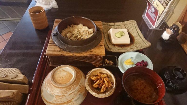 【サイクリング】琵琶湖湖畔の石山寺近く『湖舟』でししみ飯を堪能