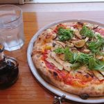 薪窯ピザ ドーノで『松茸ピザ』